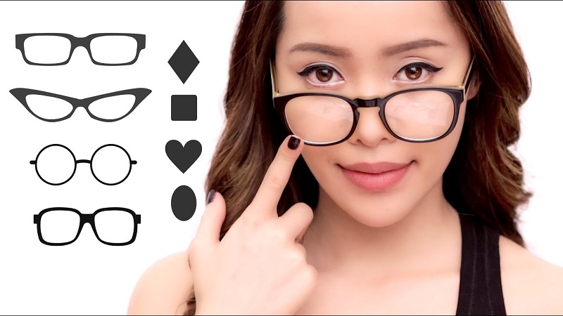 Selecting Eyeglasses or Frames According To Type of Face